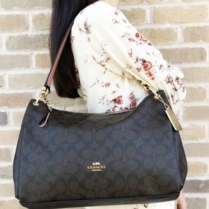 Coach Large East West Zip Tote Crossbody signature